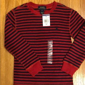 NWT boys Polo Ralph Lauren waffle knit shirt 4T